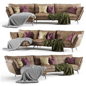 plaid knit pillow 3D