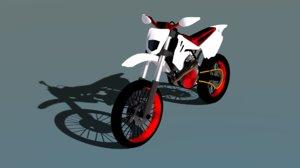moto motocross 3D model