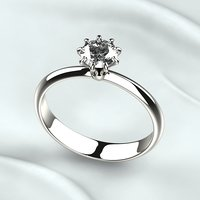 Single 5mm Gemstone Elegant Ring
