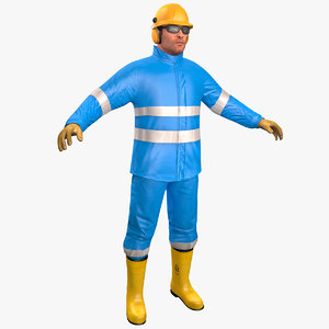 3D model offshore worker