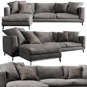 boconcept fargo chaise lounge 3D