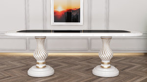 style diningroom table furniture 3D