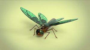 butterfly fly mechanical 3D model