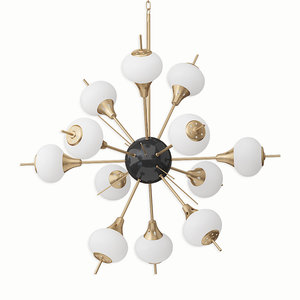 3D chandelier odeon light model