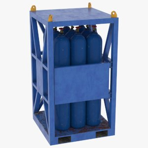 gas bottle rack 3D