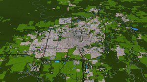 3D springfield city buildings model