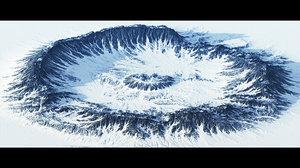 3D model crater