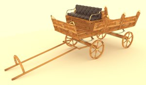 3D model pony carriage