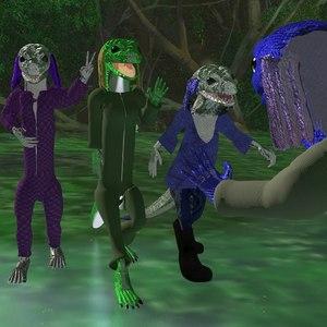 3D waxonians aliens characters model