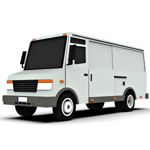 3D cartoon panel van