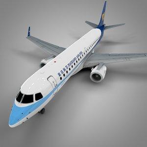 3D mandarin airlines embraer190 l633