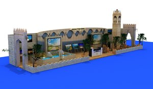 3D model traditional fair stand