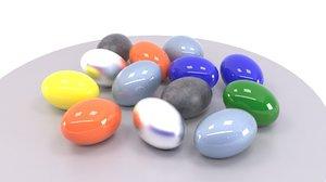 3D eggs decoration easter