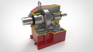 3D planetary gearbox