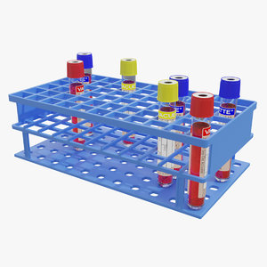 test tube rack 3D model