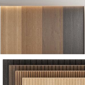 3D wood wall panels model
