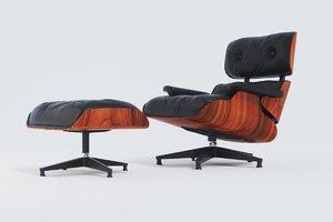 lounge chair charles eames 3D