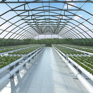 3D model hydroponics farm