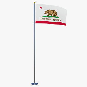 state california flag ca 3D
