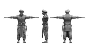 3D historical soldier