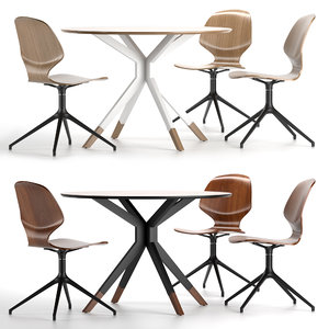 florence chair billund table 3D model