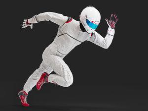 helmet gloves shoes 3D model