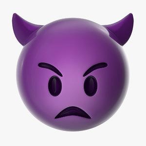 angry devil emoji 3D