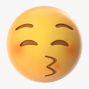 3D model kiss emoji