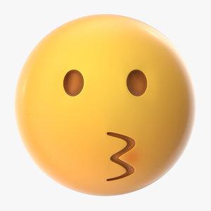 3D kissing emoji