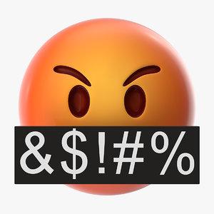 3D mad emoji model