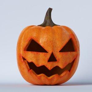 3D pumpkin face 01