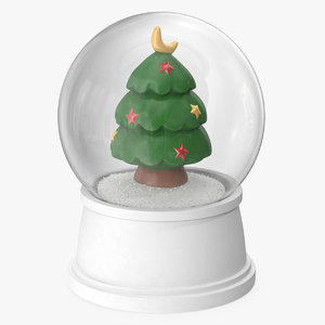 snow globe christmas tree 3D model
