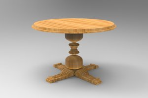 wooden table - model