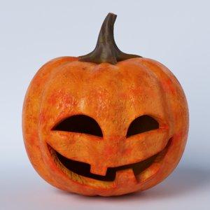 pumpkin face 04 3D model