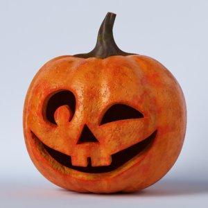 3D pumpkin face 05