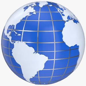 3D globe media style