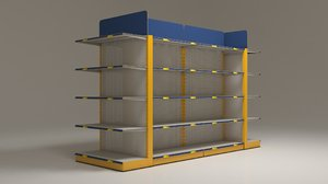 3D shelves markets