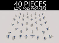 Lowpoly Workers Pack