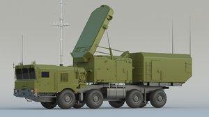3D model 92n6 grave stone radar