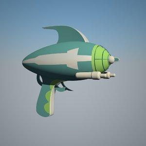 gun raygun 3D model
