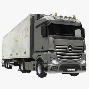 3D box trailer truck