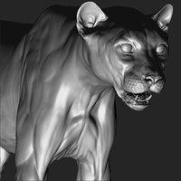 Cheetah VFX Ultra Cinematic Realistic Zbrush Sculpt