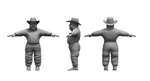 3D dwarf man