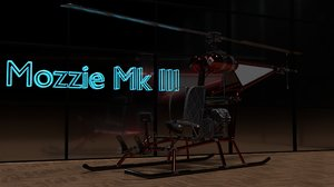 ultralight helicopter mk iii 3D model