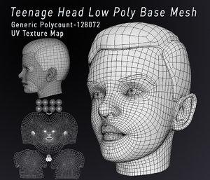 3D model teenagers head