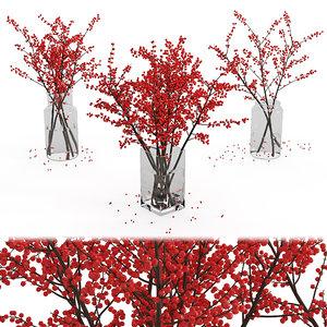 bouquet branches 01 3D model