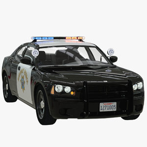 california highway patrol dodge charger 3D