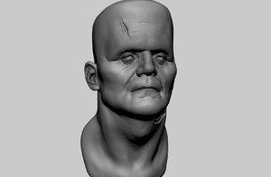 3D model frankestein head ztl