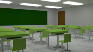 3D classroom class model