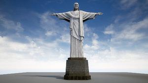 3D christ statue model
